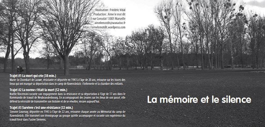 Jacquette DVD La memoire et le silence